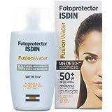 Isdin Fusion Water - Fotoprotector facial  diario SPF 50+ de base acuosa con ingredientes antienvejecimiento y antioxidantes, 50 ml