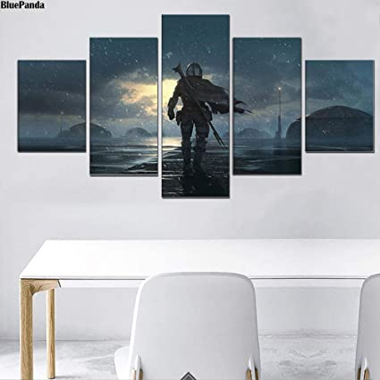 Wyjie Concept Art For The Mandalorian 5 Pieces Poster Painting On Canvas Bedroom Wall Art Decoration Pictures Home Decorno Framed40x60cm40x80cm40x100cm Amazon Co Uk Kitchen Home