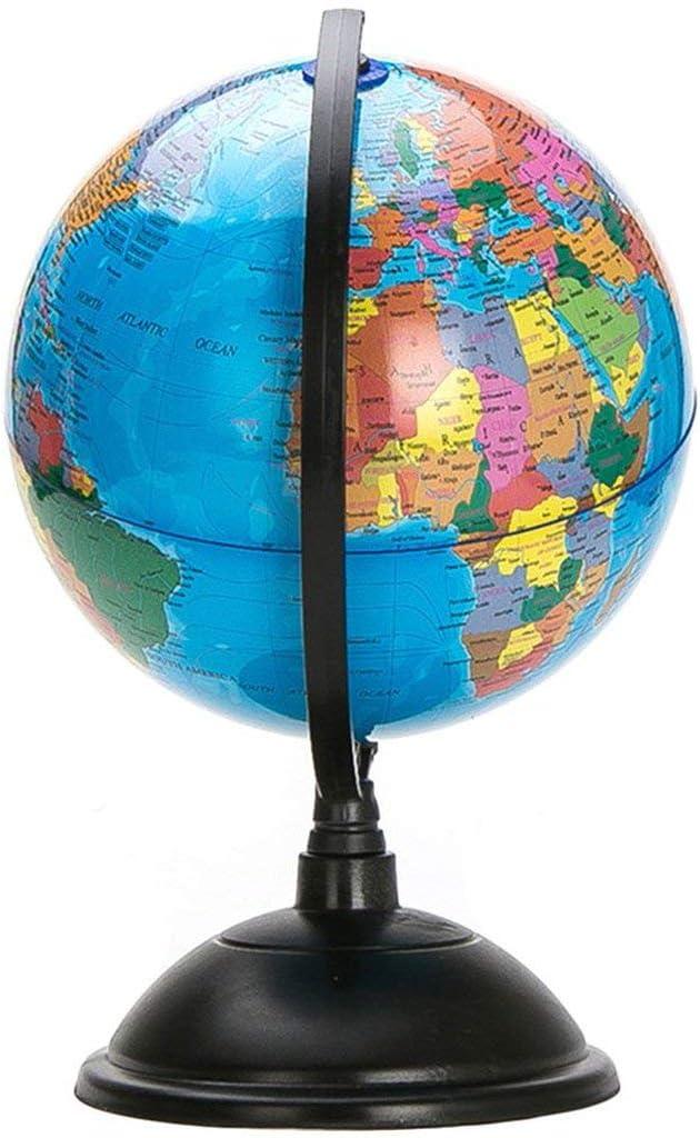 Kongqiabona-UK Globe terrestre Bleu oc/éan 20 cm avec Support pivotant pour la g/éographie /éducative am/éliorer Les Connaissances de la Terre et de la g/éographie