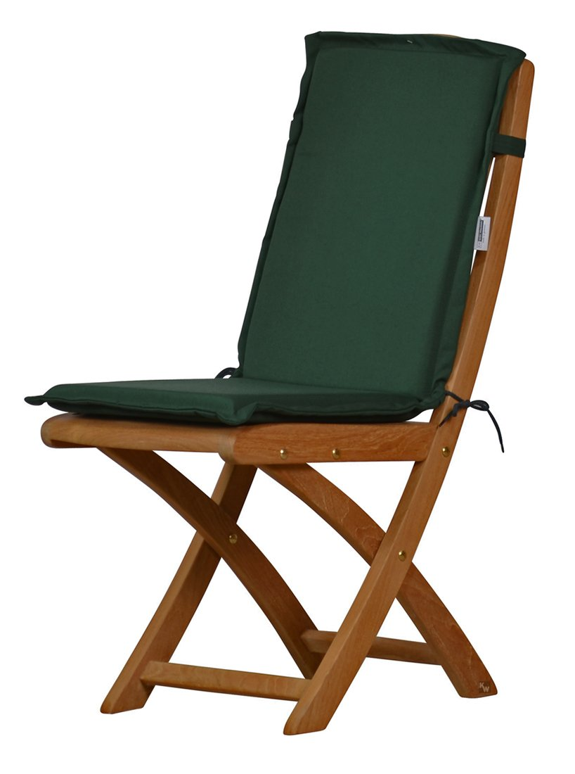 Inspirierend Polster Esszimmerstühle Ideen Von 4 X Dunkelgrüne Sitzauflage Für Garten-stühle &