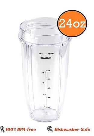 Ninja licuadora 24 oz vaso de tamaño mediano de repuesto parte para Nutri nutrininja Auto IQ: Amazon.es: Hogar