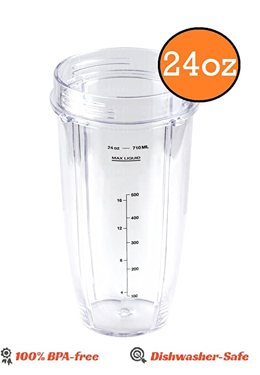 Ninja licuadora 24 oz vaso de tamaño mediano de repuesto parte ...