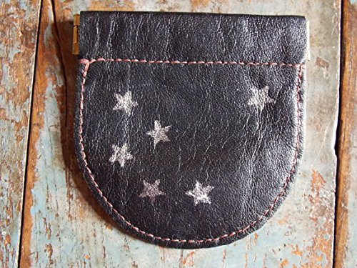 Coin pouch, recycled leather.