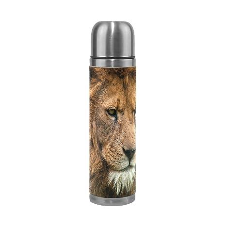 Coosun Portrait du roi lion en acier inoxydable flacons ...