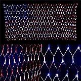 BGFHDSD 2M X 1M Novelty Led Flag Net Lights of USA for Festival Holiday Decoration Garden Indoor Outdoor Waterproof 110V US Plug 110V US Plug