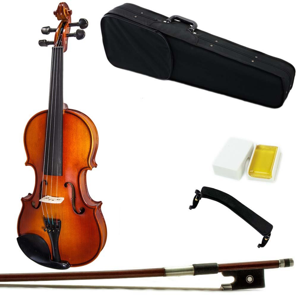 Paititi 14'' Size Upgrade Solid Wood Ebony Fitted Viola With Case Bow, Shoulder Rest and Rosin (14'') by Paititi