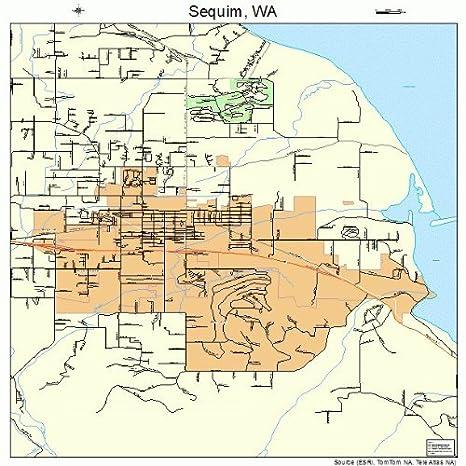 Amazon.com: Large Street & Road Map of Sequim, Washington WA ... on eltopia wa map, amanda park wa map, bellevue on a map, edmonds wa map, port townsend map, salem wa map, port orchard wa map, sequim google map, port angeles map, blyn wa map, sequim street map, sequim city map, olympic peninsula map, sequim washington on map, kingston wa map, husum wa map, lake sutherland wa map, benge wa map, south everett wa map, malo wa map,