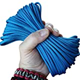 Paracord Electric Royal Blue 50 ft. Hank, 7 Internal Strands, 550 Lb. Break Strength.  Military Survival Parachute Cord for Bracelets & Projects.  Guaranteed Made In US.  Includes 2 eBooks.