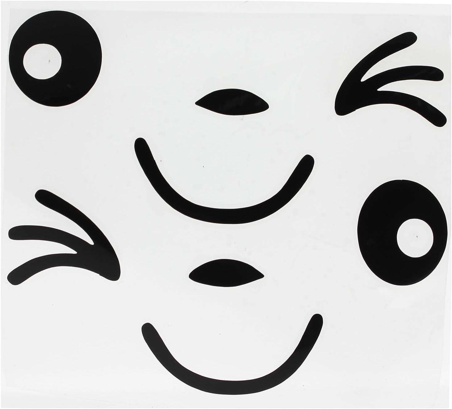 2 Stück Lächeln Gesicht Design 3d Aufkleber Dekoration Aufkleber Für Auto Seitenspiegel Autorearview Schwarz Küche Haushalt
