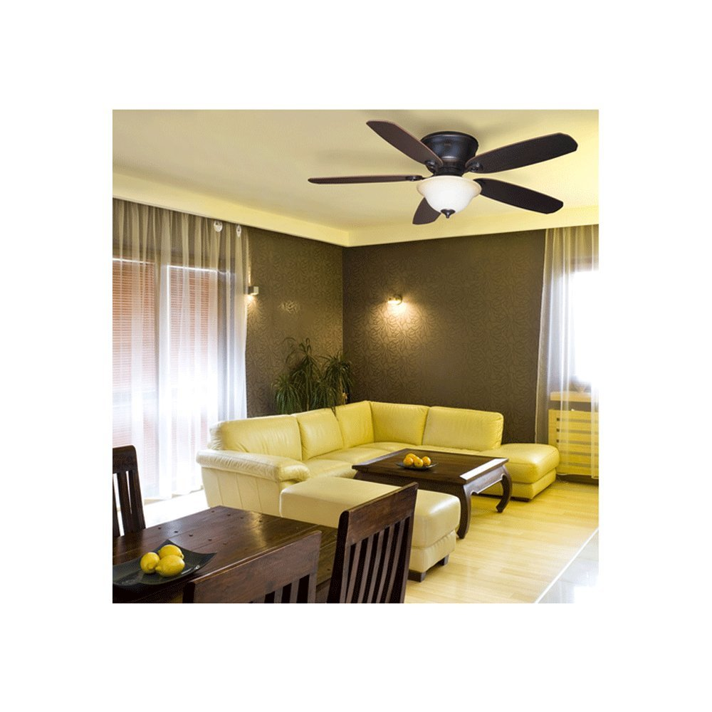 Harbor breeze pawtucket 52 in oil rubbed bronze flush mount indoor harbor breeze pawtucket 52 in oil rubbed bronze flush mount indoor ceiling fan with light kit and remote amazon aloadofball Image collections