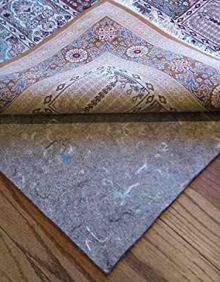 "9'x12' Rug Pads for Less Super Premium (TM) Dense 100% Felt Jute 1/3"" Thick Rug Pad for Hard Floors and Exclusive Rug Pads for Less(TM) Custom Cutting"