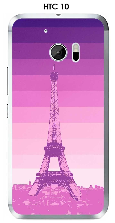 Onozo Carcasa HTC 10 Design Paris Torre y fondo Degrade Rosa ...