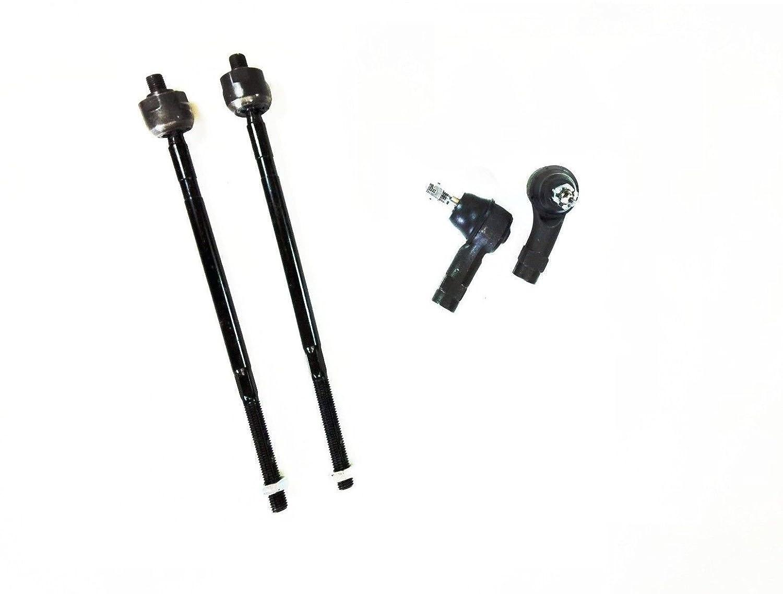 PartsW 4 Pcs Kit Front Inner & Outer Tie Rod Ends Driver & Passenger Side