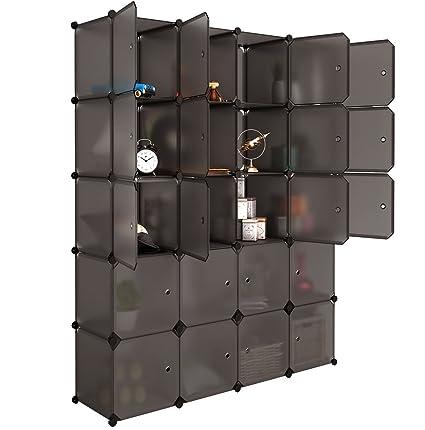 Genial LANGRIA 20 Cube Organizer Stackable Plastic Cube Storage Shelves Design  Multifunctional Modular Closet Cabinet With Hanging