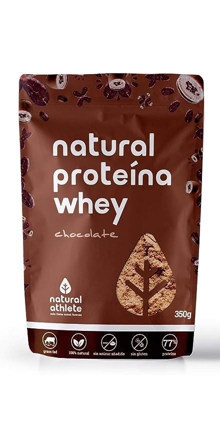 Proteína Whey - Natural Athlete - 80% Proteína aislada de leche de vacas de pasto- Grass-fed, 100% natural, sin azúcar añadido. 750gr ó 350gr. ...