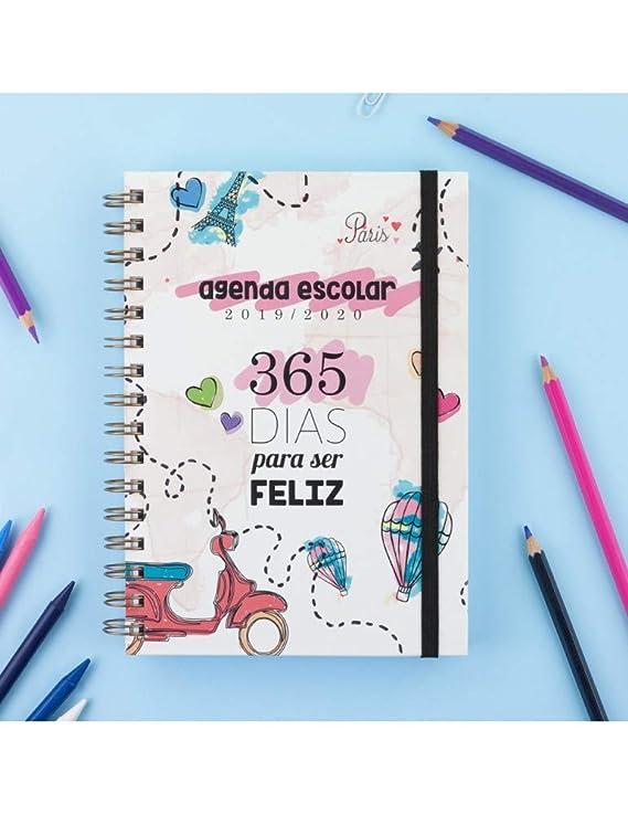Casterli - Colección Positive - Agenda Escolar 2019-2020, Día Página, Tamaño A5 (365)