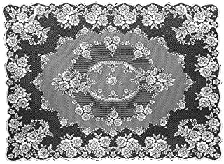 product image for Heritage Lace Victorian Rose 60-Inch by 84-Inch Tablecloth, Ecru