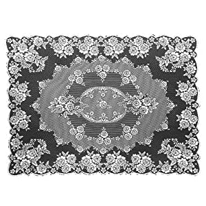 Superior Heritage Lace Victorian Rose 60 Inch By 108 Inch Tablecloth, Ecru