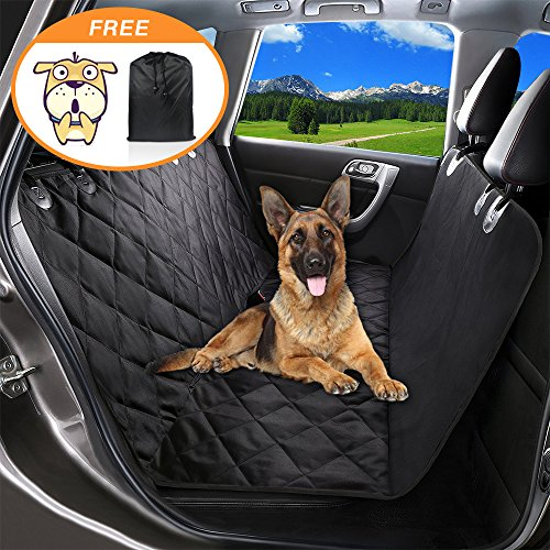 Pet Seat Cover Dog Car Seat Covers With Storage bag-600D Waterproof, Nonslip Backing and Hammock Style Easy to Clean and Install for Cars, Trucks and - Coupon For Style Less