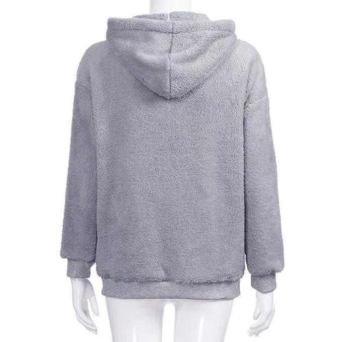 Amazon.com: Shejianke Swearter for Women,Women Hoodie Sweatshirt Long Sleeve Warm Winter Coat Jacket Outwear (S, Wine Red): Computers & Accessories