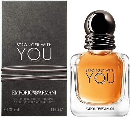 Giorgio Armani Stronger With You Homme Eau de Toilette - 30 ml: Amazon.es: Belleza