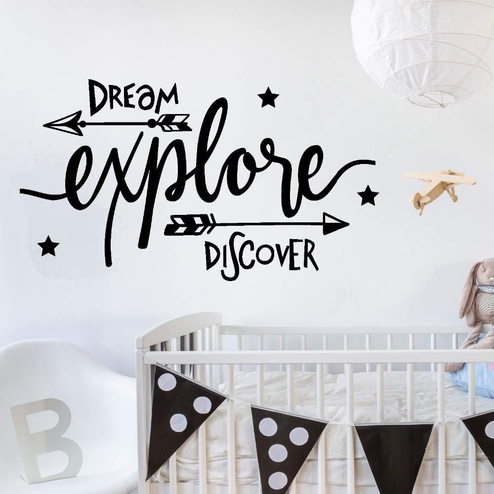 Etiqueta de la paredDream explore discovery adventure niños ...