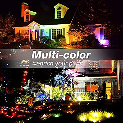 Onforu 4 Pack 20W RGB LED Flood Lights with Remote Control, IP66 Waterproof Dimmable Color Changing Floodlight, 16 Colors 4 Modes Wall Washer Light, Outdoor Decorative Garden Stage Landscape Lighting