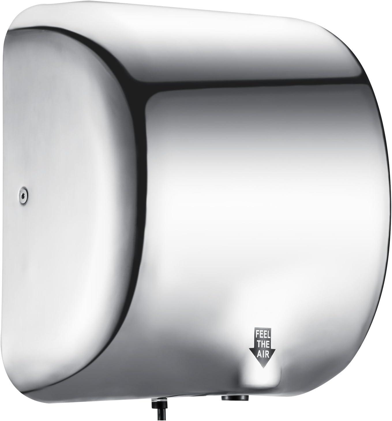 Elettrico Automatico Asciuga Mani Intelligente Mini induzione ad Alta velocit/à/Asciugatura Macchina con Fast Warm Air Generichaoge Bianco