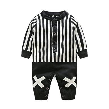 Mameluco de Punto Bebé niño niña Pijamas Mono Traje Ropa ...