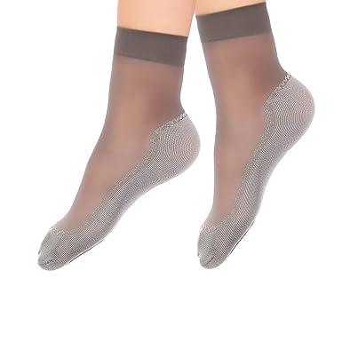 Neupreis billig werden 2019 heißer verkauf 5 Paar Nylon Söckchen Damen Seidenstrümpfe Ultradünne Transparente Kristall  Socken Elastische Kurze Socken Anti-Rutsch-Baumwollsohle Feinstrümpfe ...