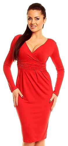 Zeta Ville Sexy Long Sleeve Stretchy Jersey Dress 285