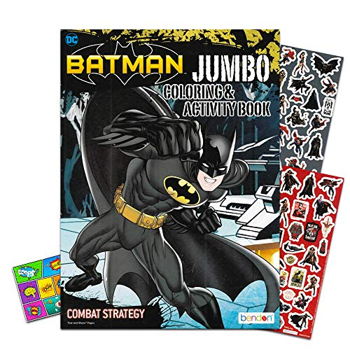 - Justice League Batman Coloring Book Bundle with Batman Stickers & Specialty Separately Licensed GWW Reward Sticker