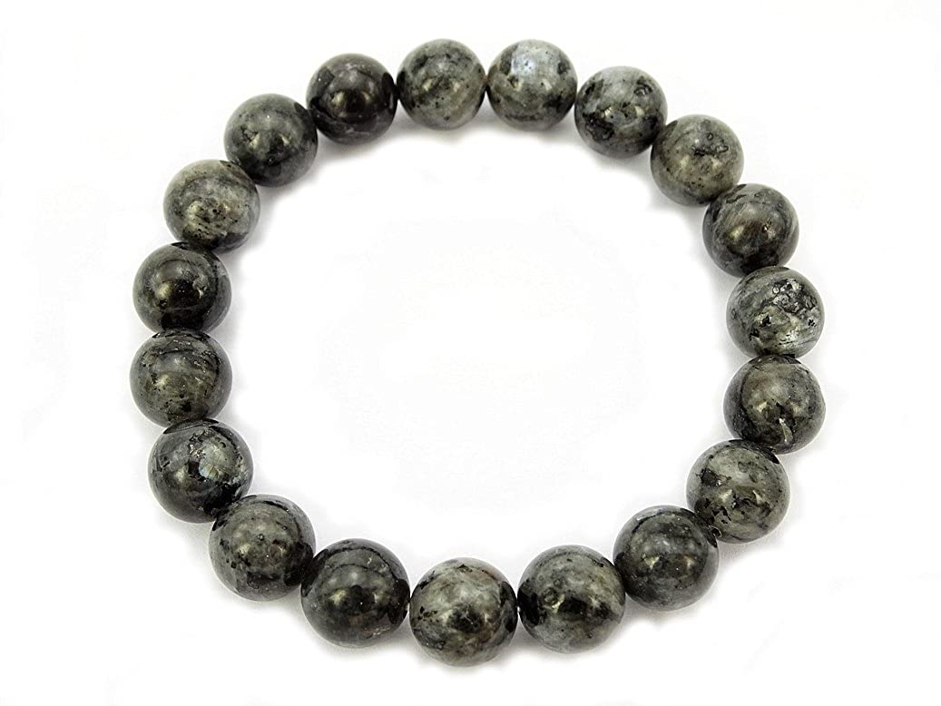 jennysun2010 Handmade Natural Gemstone Smooth Round Loose Beads 10mm Stretchy Bracelet Healing