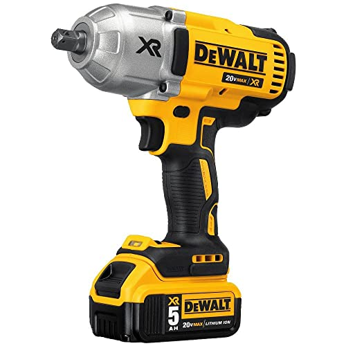 DEWALT 20V MAX XR Cordless Impact Wrench Kit with Detent Anvil, 1 2-Inch DCF899P2