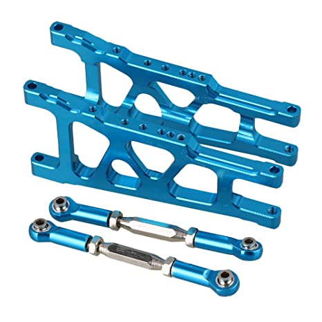 Mxfans RC Blue Aluminum Alloy SLA007 SLA013 Front//Rear Suspension Arms and Servo Link Upgrade Parts for TRAXXAS SLASH 4X4 /& HQ 727 Short Truck Pack of 2