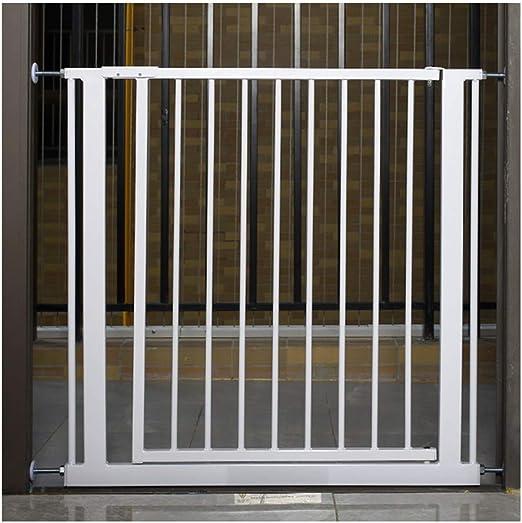 WHAIYAO Bebé Puerta De La Escalera Barrera Puerta De Aislamiento del Bebé Decorativo for El Hogar Protección Seguridad Pasillo Montado En La Pared, Cierre Automático: Amazon.es: Hogar