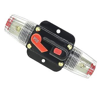 Rkurck Schutzschalter 60/A 30/A 150/A 20/A Sicherungshalter 12/V 80/A Solarwechselrichter 40/A Inline-Sicherungsblock f/ür Auto-Audio 100/A 50/A 24/V DC Systemschutz