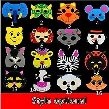 UChic - 10 unidades de máscaras de animales para niños, cumpleaños, fiestas, Navidad