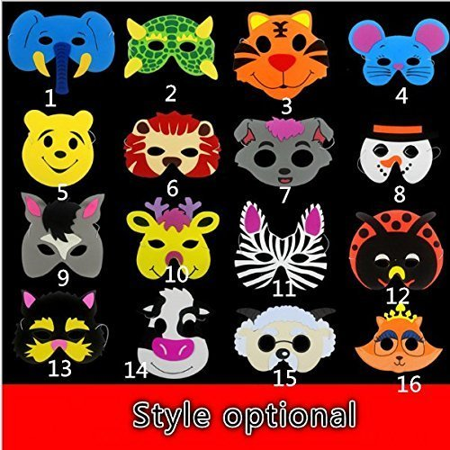 UChic 10Pcs/lot Animal Masks for Kids Birthday Party Favors