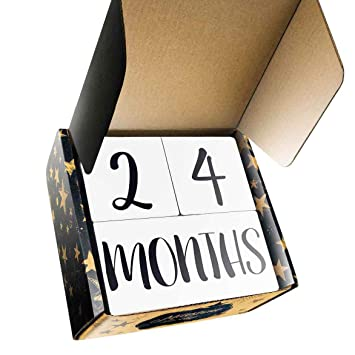 Amazon.com: Bloques de hitos mensuales para fotos de edad ...