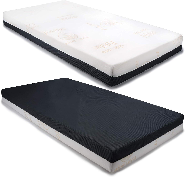 PEKITAS Colchón Cuna Doble Cara 60x120cm Grosor 10 Cm Funda Lavable Fabricado En España: Amazon.es: Bebé