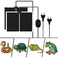 Liuer 2PCS Manta Termica Reptiles Ajustable Reptil Heat Mat con Control De Temperatura Reptiles-Estera de Calefacción…