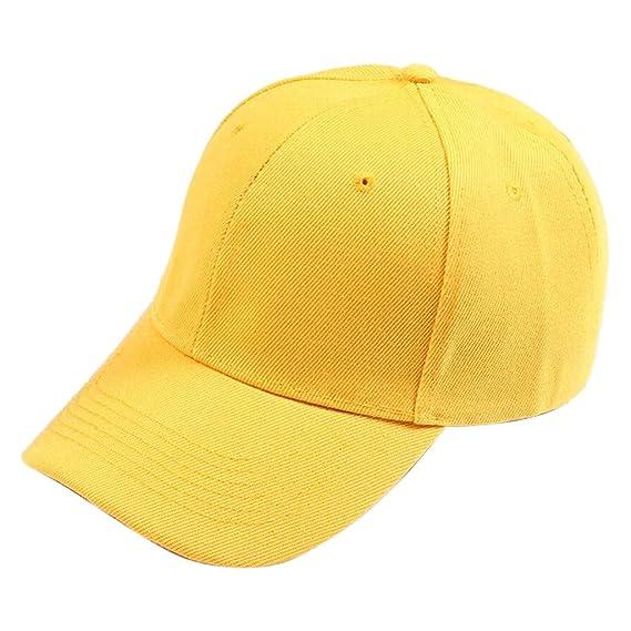 Dorical Gorras De Béisbol Hombres Mujeres Unisex Moda Simple Casual Color  Sólido Ajustable Deporte Curved Cap Visor Sombrero Plano Verano  Amazon.es   Ropa y ... 582f81f55ab