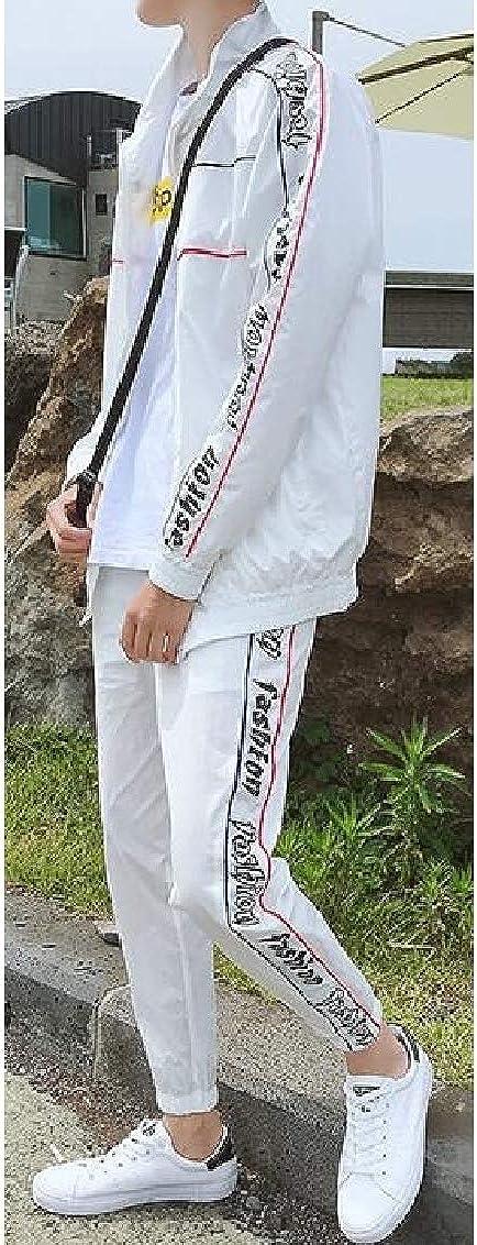 Hajotrawa Mens 2 Pieces Sweatshirt Sport Hoodie Jogger Pants Tracksuit Set