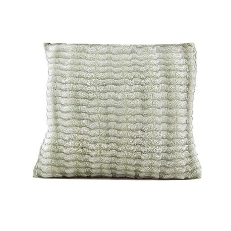 Haodou 42x42cm Color Sólido Felpa Corta Suave Mantas Almohadas Fundas de Colchón Cómodo Inicio Sofá Silla