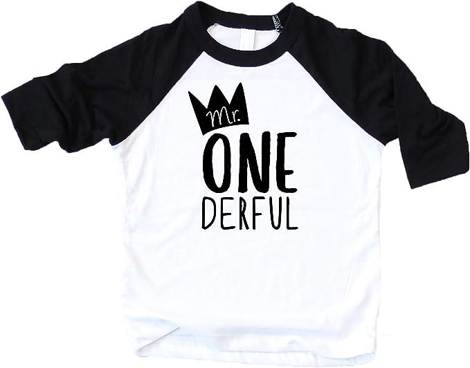 Amazon.com: Camiseta de béisbol Mr One-Derful para niños ...