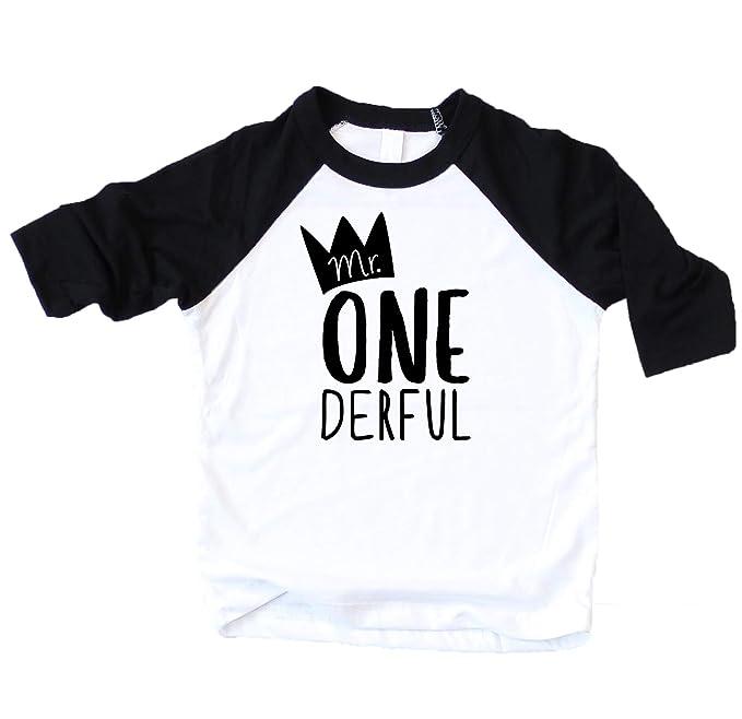 Amazon Mr One Derful Baseball Tee Shirt For Boys 1st Birthday