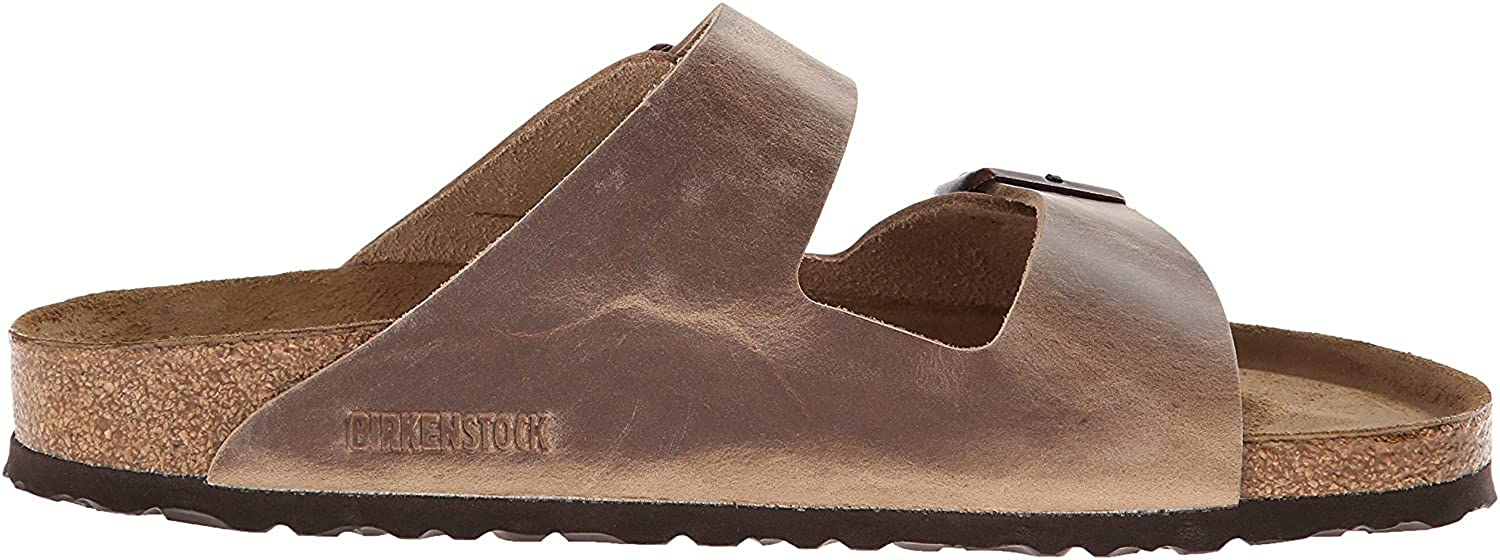 Birkenstock Arizona Soft Footbed - Leather (Unisex) Tobacco 37 (US Women's 6-6.5) Regular