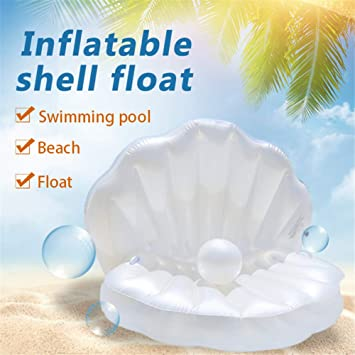 Nuevo Diseño Gigante Inflable Shell Cojín Flotador Cama De ...