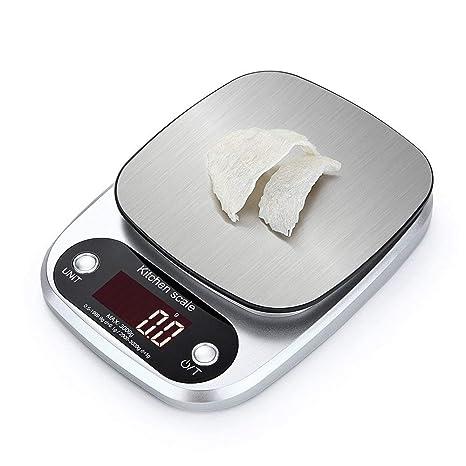 Huatuo®Mini Báscula eléctricas Digital básculas de Cocina,3 kg / 0.1 g,